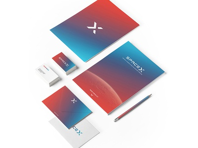 The New SpaceX - Rebrand Stationary