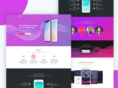 Appos - Apps Landing web Template professional portfolio parallax one page minimal landing page landing html5 creative company business app