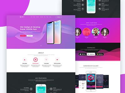 Appos - Apps Landing web Template professional portfolio parallax one page minimal landing page landing html5 creative company business app