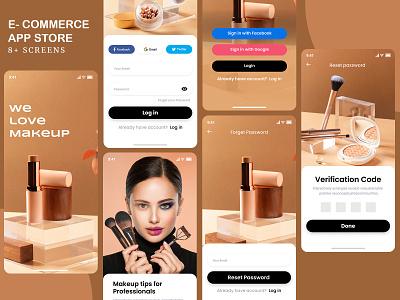 #01 Cosmetic E- commerce App Store mobile app design