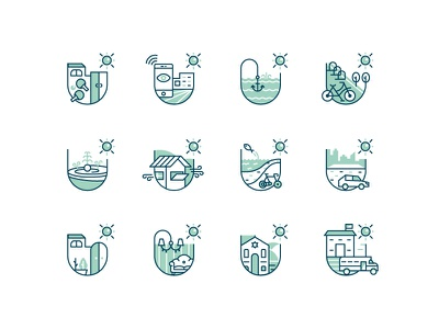 King Solomon Icons - Real Estate Project graphical digitaldesign digital design branding icons