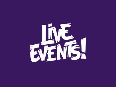 Live Events! graphical graphic branding rebranding design logo