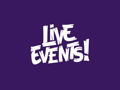 Live Events! graphical graphic branding rebranding design logo