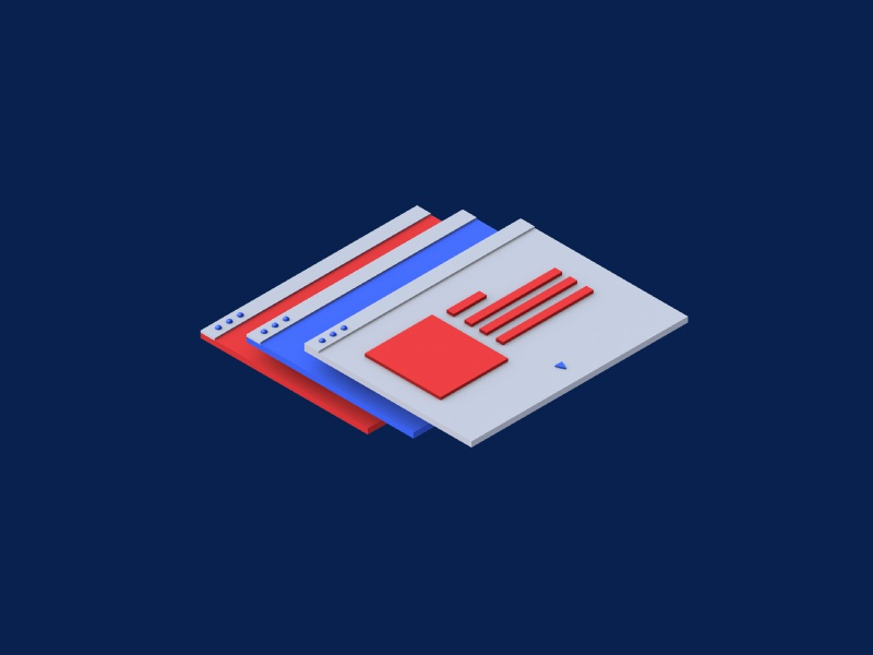 Isometric 3d icons for insta 02
