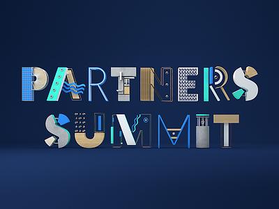 Partners Summit Branding event branding 3d c4d logo branding