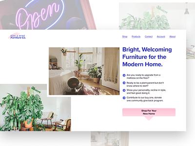 Daily UI #003: Landing Page web design grid dailyui 003 dailyui