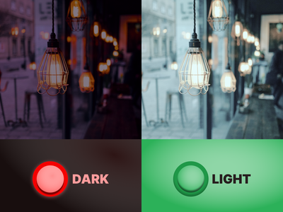 Daily UI Day #015: Light//Dark Switch design dailyui