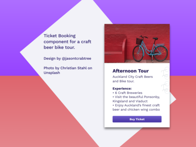 Beers And Bikes — UI Card Component