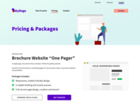 Pricing & Packages Page Wireframe Concept