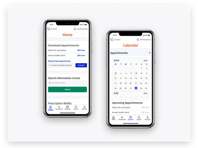 Medical Booking App Study ios functional app design