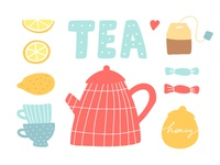 Tea hand drawing vector illustration for poster