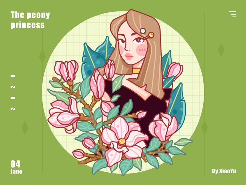 Matcha moonlight flower leaf matcha banner web girl
