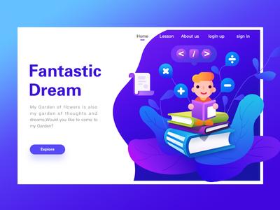 Fantastic web illustration design