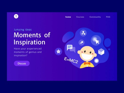 Moments of Inspiration banner ads web design 插图
