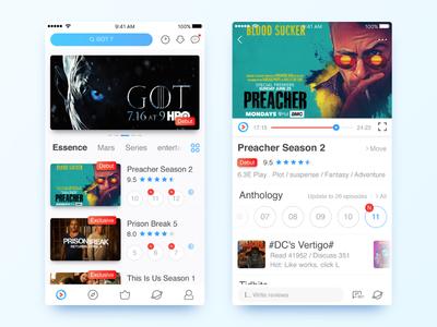 YOUKU App Redesign #2 tv play ios player video redesign app ui youku