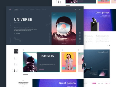 Monthly magazine web #2 webpage webdesign design clean astronaut ui ai web magazine