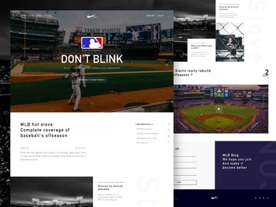 Mlb Blog Web Design #3 video sports education physical nike baseball blog mlb jee-lion design web