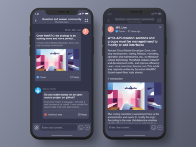 Knowledge Forum app ue ui tool pop release imessage sms information community forum qa app