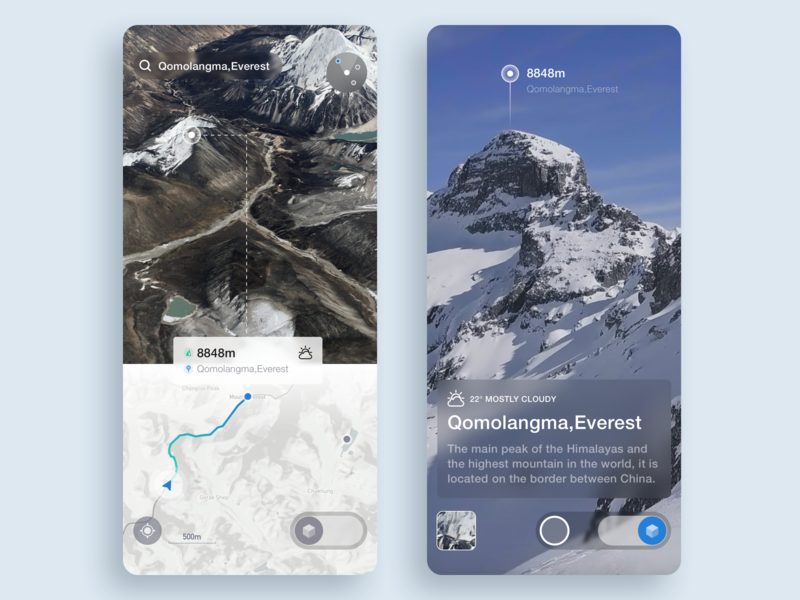 Travel Navigation Vr ux iphonex ios ar mountain shooting positioning map app vr navigation travel