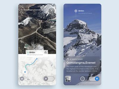 Travel Navigation Vr ux iphonex ios ar mountain shooting positioning map app vr navigation travel