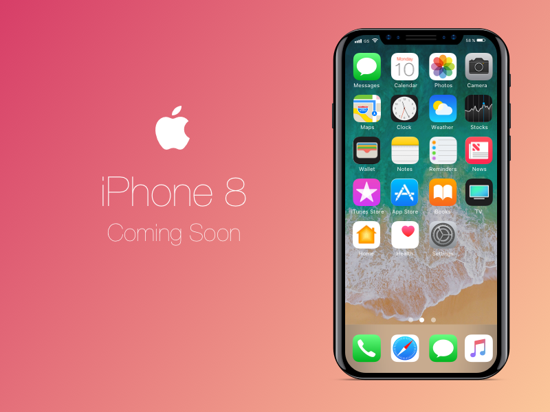 iPhone 8 Sketch Mockup Freebie
