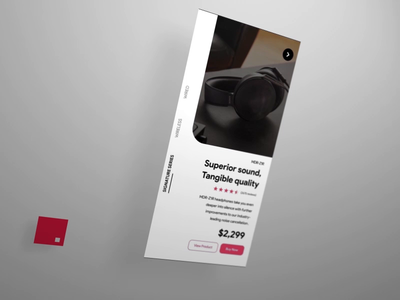 Sony App (Concept) - InVision Studio invisionstudio 3dcamera app ios product design gif interaction design motion design animation ui ux