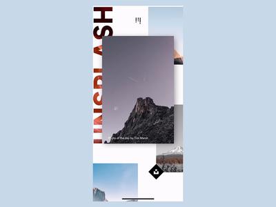 Unsplash Parallax (Flinto Preview App Rec 🔴) flinto app product design smooth animation ui ux ios interaction design gif design motion