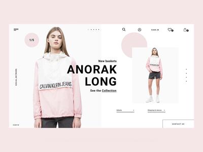 Winter Fashion Website - Animation