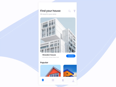 Home Rent App Animation - Part 2 mobile app design mobile interaction design gif app ios flat motion design animation ui ux