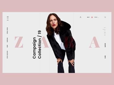 Zara Fashion Web - Animation smooth fashion web motion interaction design animation 2d webdesign flat design animation ui ux