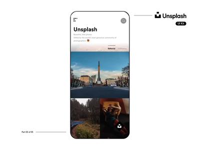 Unsplash UI Kit Showcase - Part 2 of 5 unsplash mobile sketchfreebie sketch ios app vector product design interaction design motion design animation ui ux