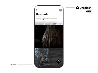 Unsplash UI Kit Showcase - Part 4 of 5 ux product design ios interaction design animation app designer video motion smooth sketch freebie unsplash mobileuikit app design