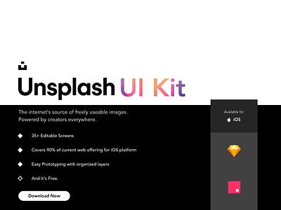 Unsplash iOS UI Kit - Sketch & Invision Studio 🆓🆓🆓 unsplash interaction design motion uiux animation uidesign freebie freeuikit iosapp invisionstudiofreebie sketchfreebie uikit