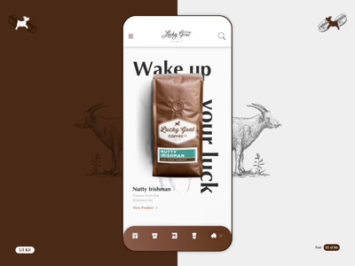 LGC - Coffee App - Part 01 of 06 flinto sketchapp order coffee logo product design interaction design app ios design motion animation ui ux