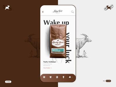 LGC - Coffee App - Part 01 of 06 flinto sketchapp order coffee logo product design interaction design app ios design motion animation ui ux