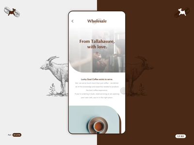 LGC - Coffee App - Part 02 of 06 sketch flinto color coffee smooth product design interaction design app ios design motion animation ui ux