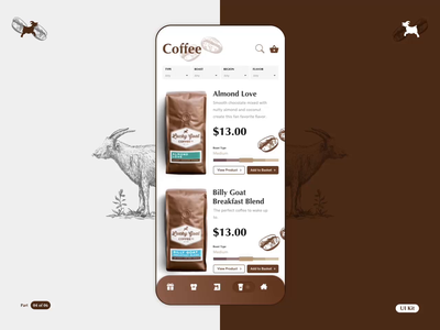 LGC - Coffee App - Part 04 of 06 vector illustration uikit ae sketch vector product design flat typography app ios design motion animation ui ux