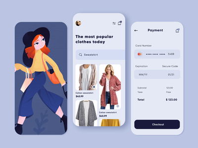 Shopping App sign up categories ui  ux adobe xd line art design app men girl women pink blue character design vector illustration mobile ux mobile ui mobile app app
