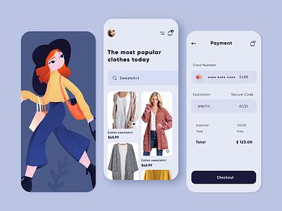 Shopping App sign up categories ui  ux adobe xd line art design app men girl women pink blue character design vector illustration mobile ux mobile ui mobile app app