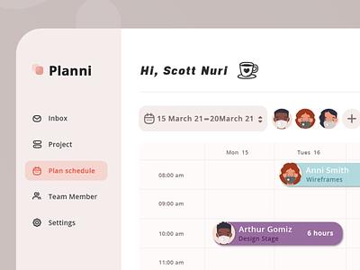 Task Plan dashboard. work plan task ui logo design landing header vector illustration dashboard