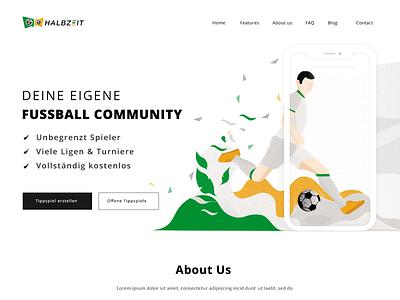 Website Design figma green football sport illustration vector design ui page landing header website