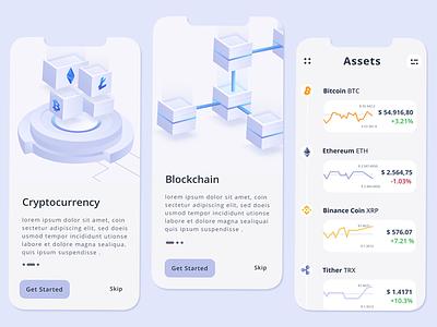 Cryptocurrency app design figma money cryptocurrency app vector ui design page landing header website illustration