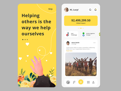 Help App Design white yellow help mobile figma branding design ui page landing header website vector illustration