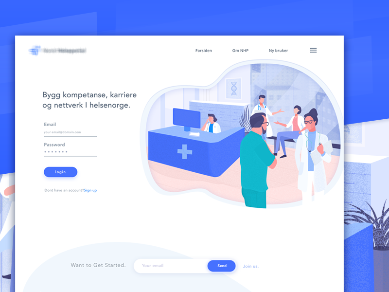 Medical login page by bouchra on Dribbble