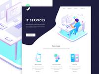 IT Service Landing Page