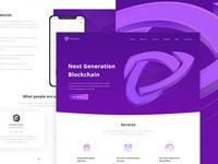 Blockchain landing page