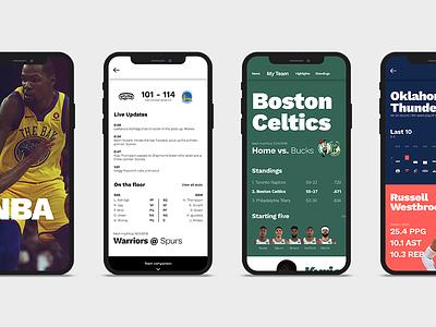 NBA App Concept ios iphone x digital interaction design ux ui ui design ux design concept app nba