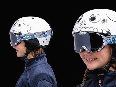 Bone Head Pro-tec Kids Snowboard helmet graphics