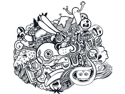 snow surf skate - illustration (BT)