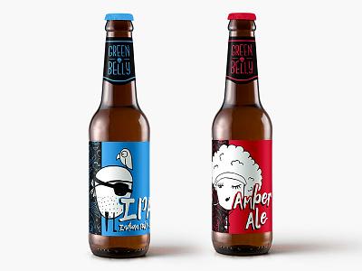Beer Labels - just for fun graphic design label beerlabel ink drawing art illustration